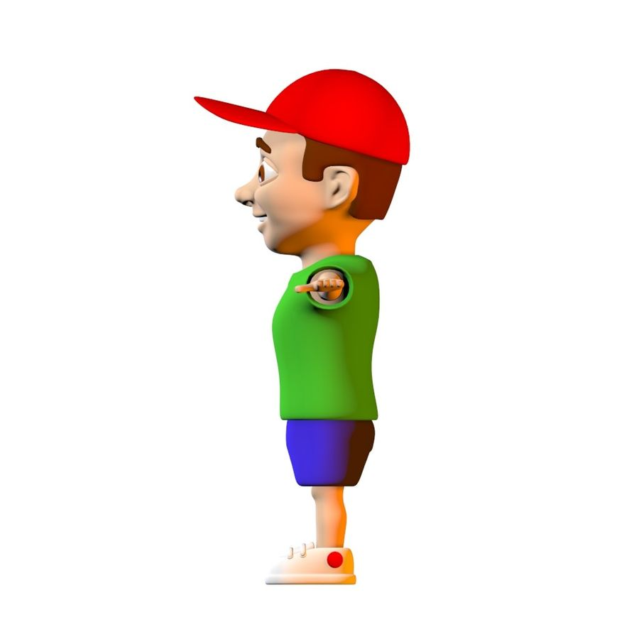 Cartoon Boy Child Kid Character royalty-free 3d model - Preview no. 3