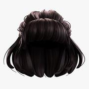 Tecknad hår 3d model