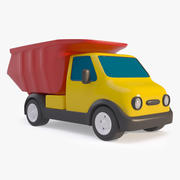 Toy Cartoon Dump Truck 3d model