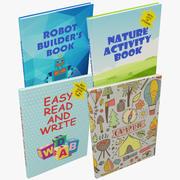 Kolekcja książek dla dzieci 3d model