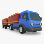 Toy Truck With Trailer 3d model