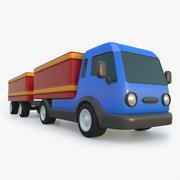 带拖车玩具卡车 3d model