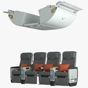 シンガポール航空プレミアムエコノミーミドルシート 3d model