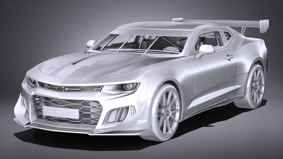 Chevrolet Camaro GT4R lowpoly royalty-free modelo 3d - Preview no. 9