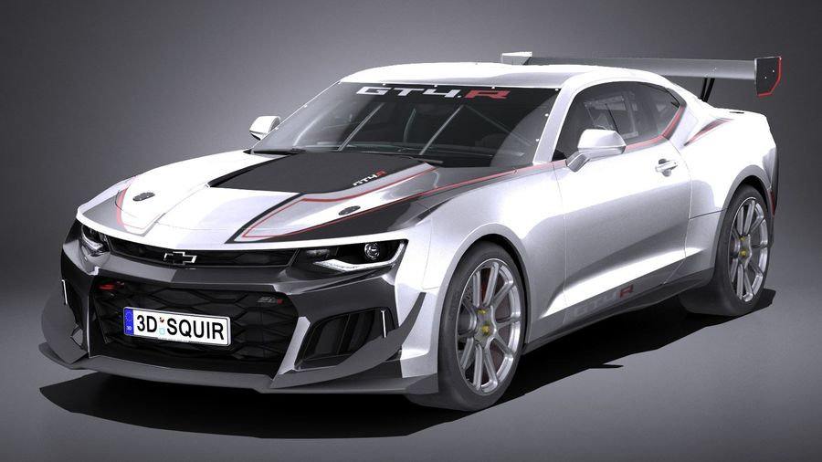 Chevrolet Camaro GT4R lowpoly royalty-free modelo 3d - Preview no. 1