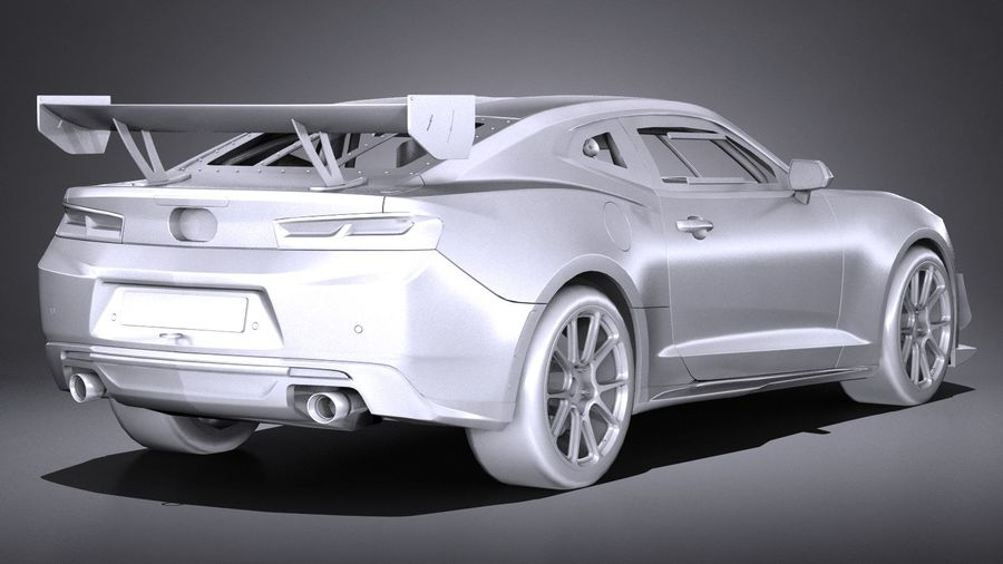 Chevrolet Camaro GT4R lowpoly royalty-free modelo 3d - Preview no. 12