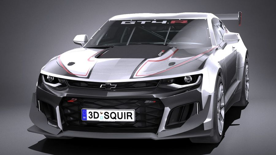 Chevrolet Camaro GT4R lowpoly royalty-free modelo 3d - Preview no. 2