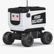 Voedsel bezorgrobot 3d model