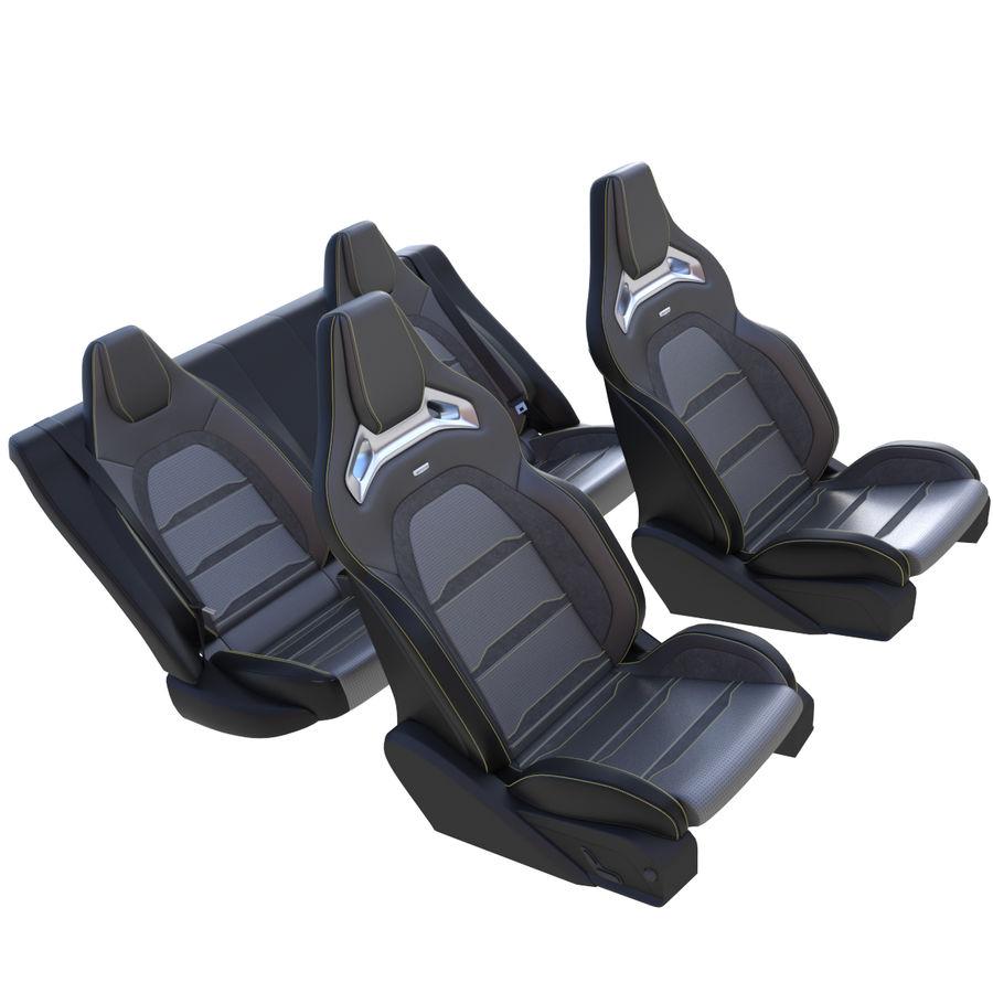 Car seat royalty-free 3d model - Preview no. 4