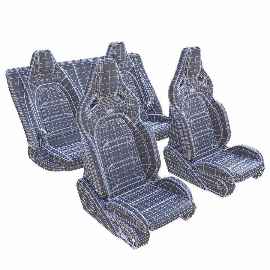 Car seat royalty-free 3d model - Preview no. 7