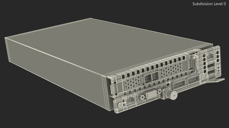 Blade Server royalty-free 3d model - Preview no. 14