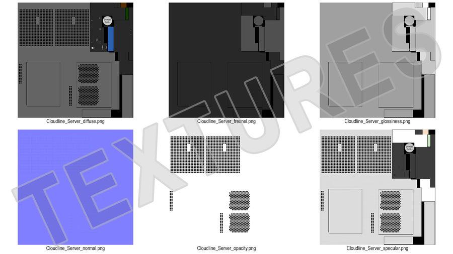 Blade Server royalty-free 3d model - Preview no. 17