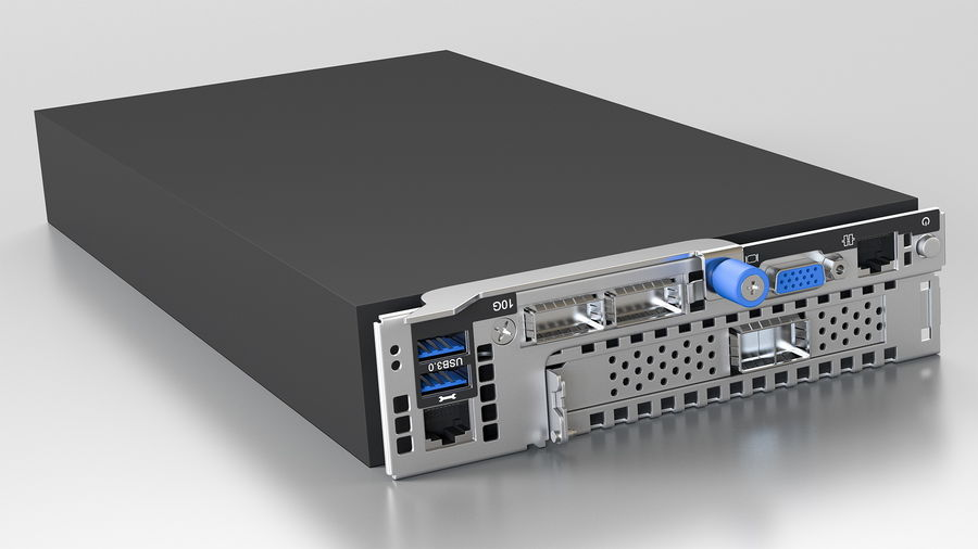 Blade Server royalty-free 3d model - Preview no. 3