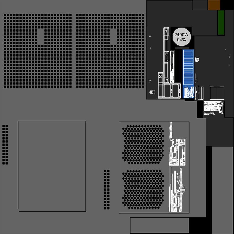 Blade Server royalty-free 3d model - Preview no. 16