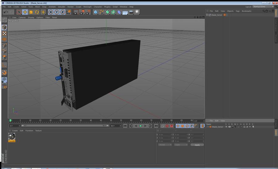 Blade Server royalty-free 3d model - Preview no. 19