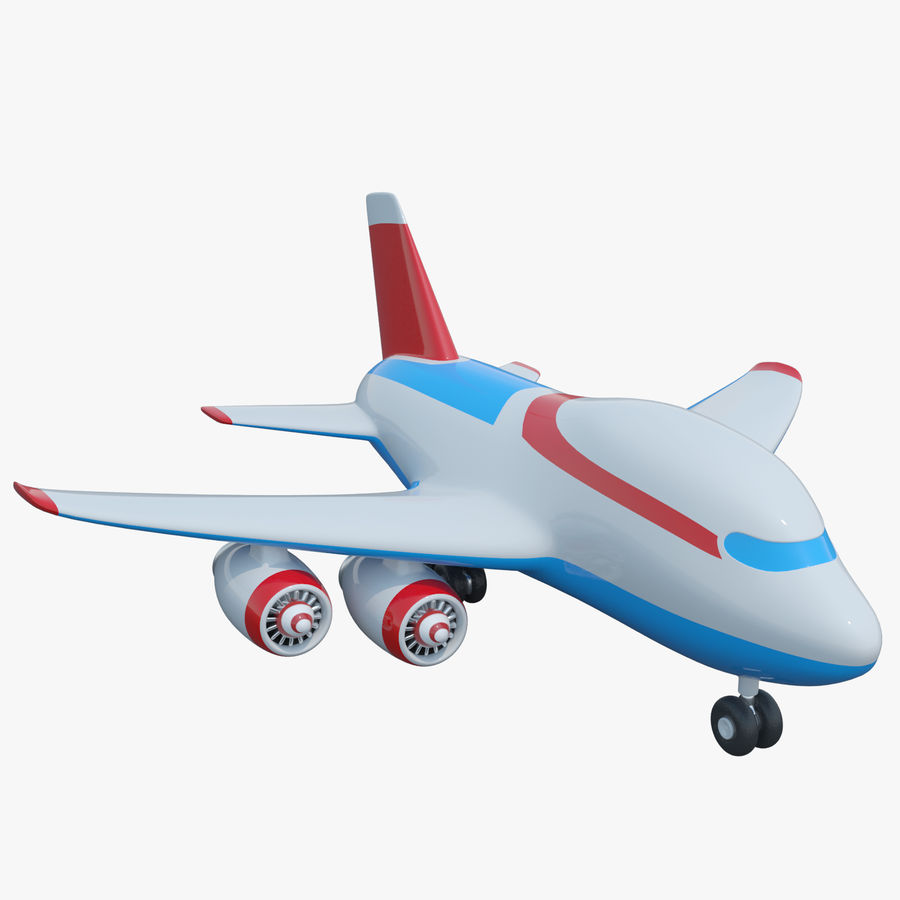 Toy Cartoon Airplane royalty-free 3d model - Preview no. 1