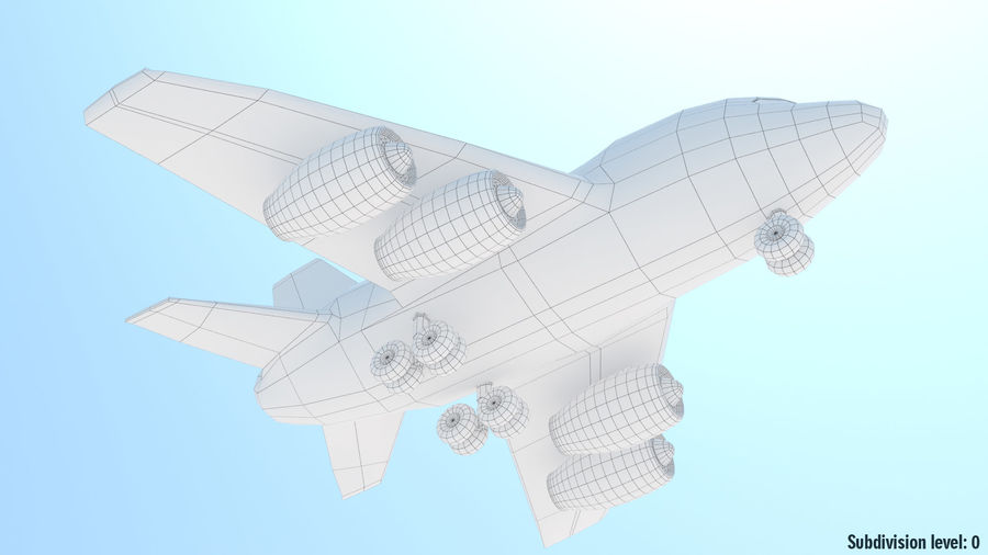 Toy Cartoon Airplane royalty-free 3d model - Preview no. 10