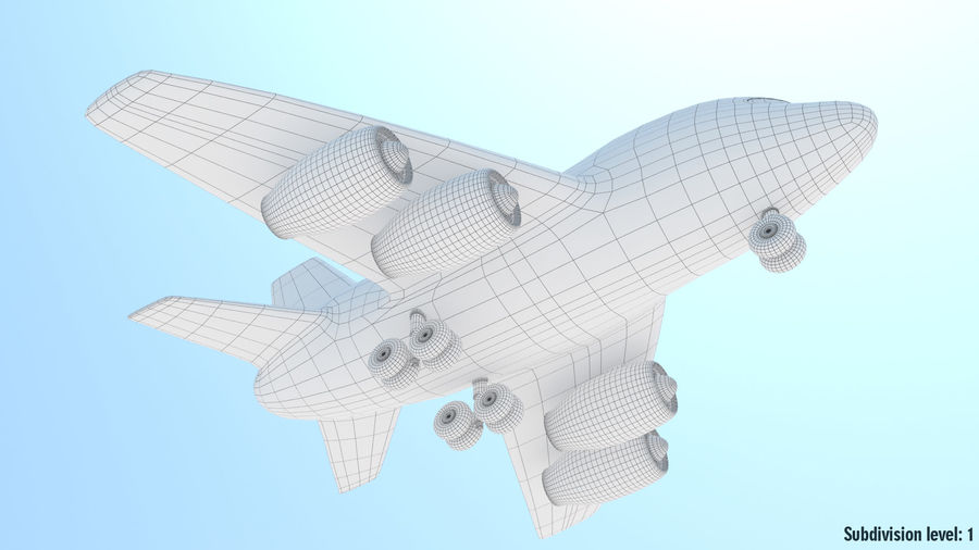 Toy Cartoon Airplane royalty-free 3d model - Preview no. 9