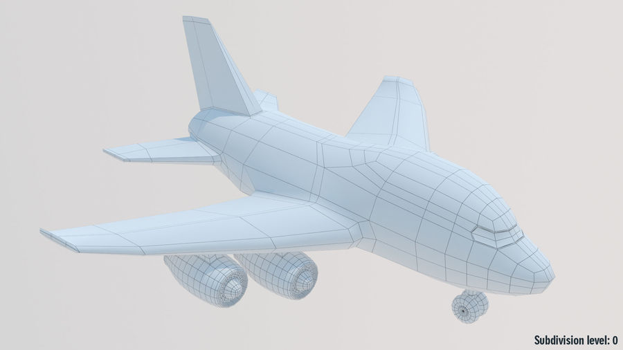 Toy Cartoon Airplane royalty-free 3d model - Preview no. 11