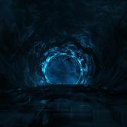 Vreemde donkere tunnel 3d model