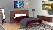 Спальня 01Комплект 3d model