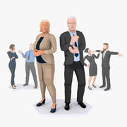Gruppo truccato LowPoly Business People 3d model