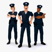 Squadra di polizia LowPoly truccata 3d model