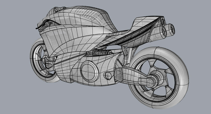 Concept Bike 2 royalty-free 3d model - Preview no. 5