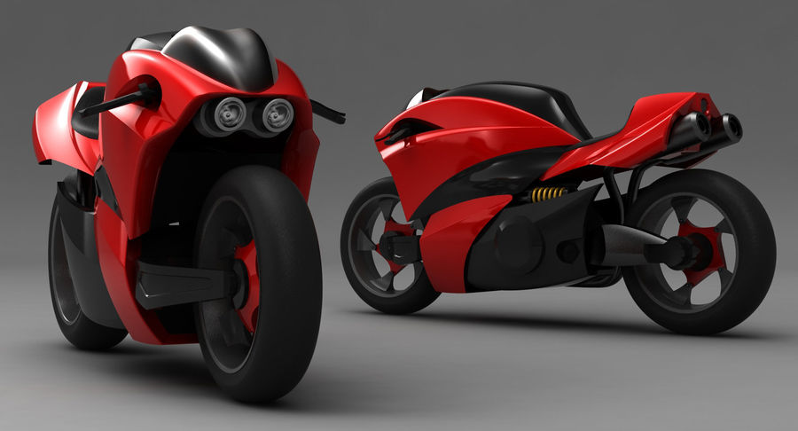 Concept Bike 2 royalty-free 3d model - Preview no. 11