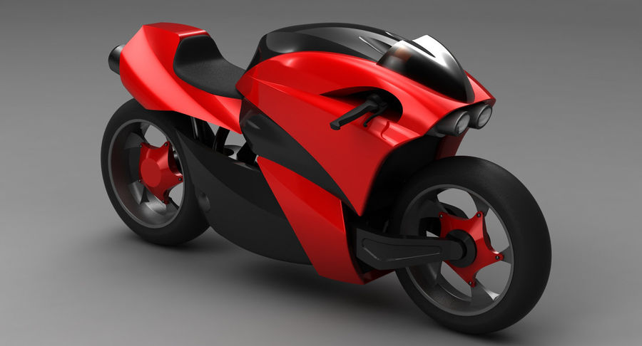 Concept Bike 2 royalty-free 3d model - Preview no. 8