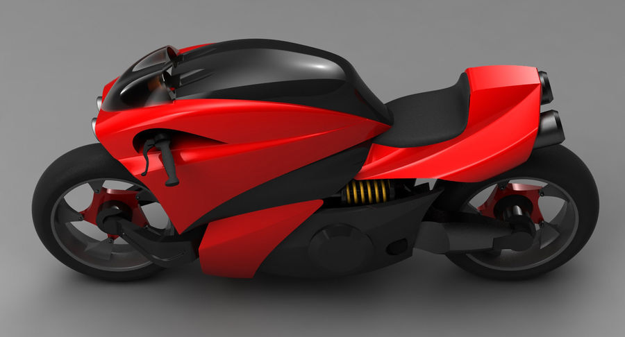 Concept Bike 2 royalty-free 3d model - Preview no. 7