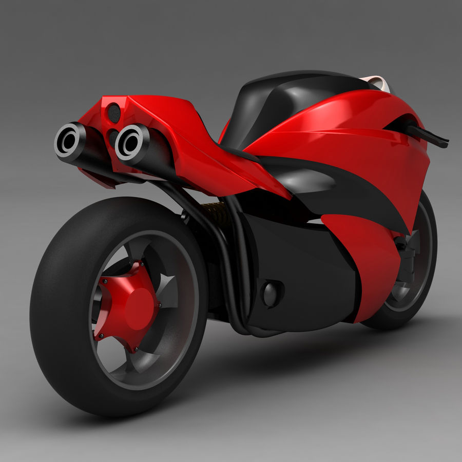 Concept Bike 2 royalty-free 3d model - Preview no. 3