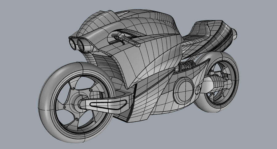 Concept Bike 2 royalty-free 3d model - Preview no. 4