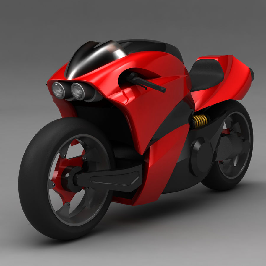 Concept Bike 2 royalty-free 3d model - Preview no. 2