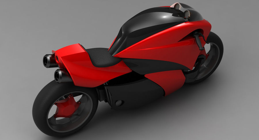 Concept Bike 2 royalty-free 3d model - Preview no. 10