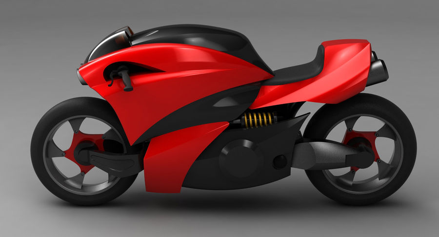 Concept Bike 2 royalty-free 3d model - Preview no. 6