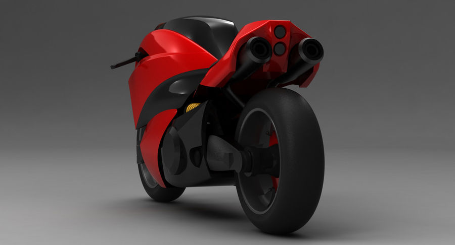 Concept Bike 2 royalty-free 3d model - Preview no. 9