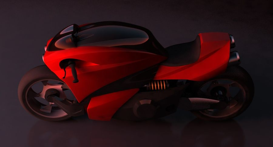 Concept Bike 2 royalty-free 3d model - Preview no. 12