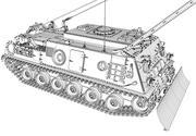 Vehículo de recuperación blindado M88A1 ARV modelo 3d