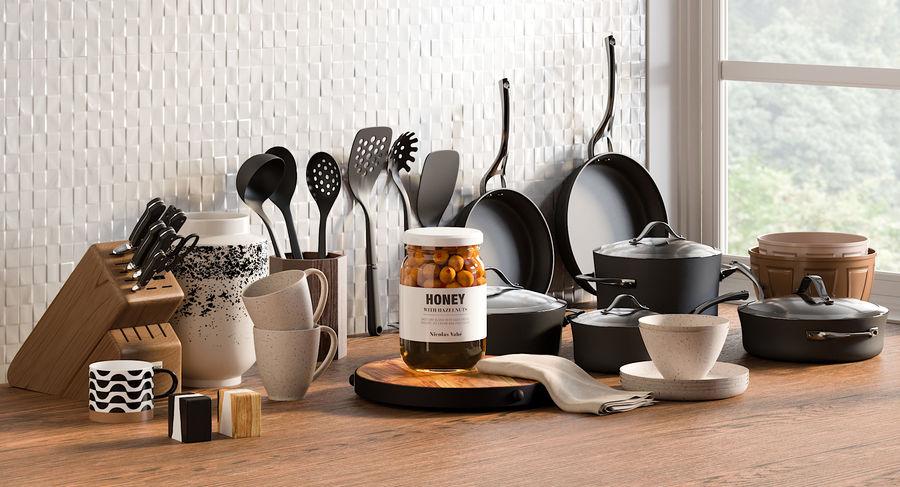 Mutfak Gereçleri 3 royalty-free 3d model - Preview no. 2