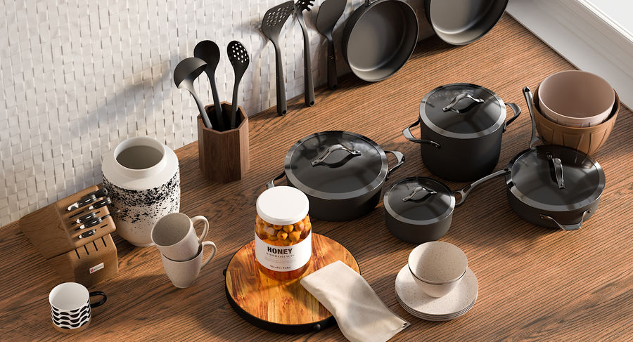Mutfak Gereçleri 3 royalty-free 3d model - Preview no. 4