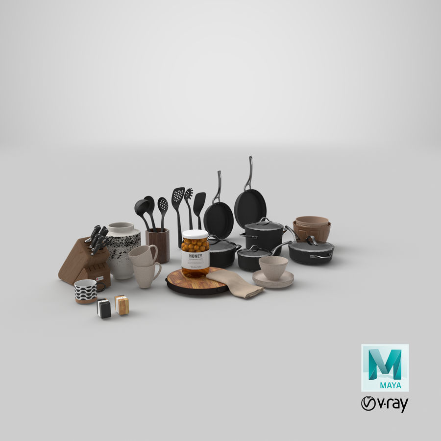 Mutfak Gereçleri 3 royalty-free 3d model - Preview no. 40