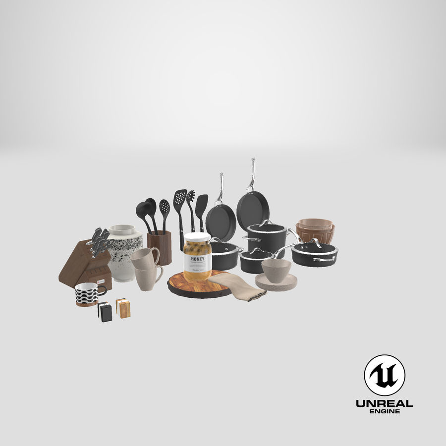 Mutfak Gereçleri 3 royalty-free 3d model - Preview no. 42
