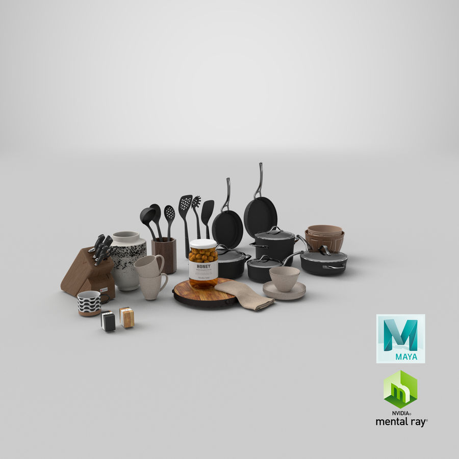 Mutfak Gereçleri 3 royalty-free 3d model - Preview no. 39