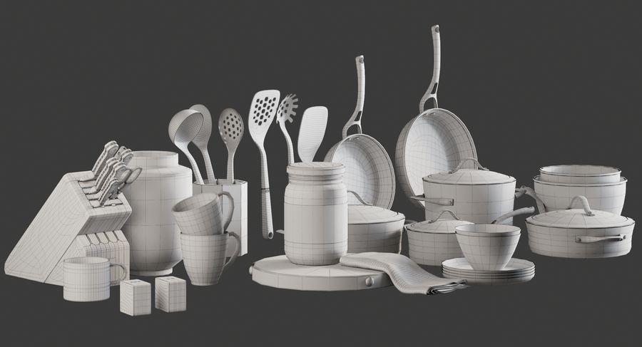 Mutfak Gereçleri 3 royalty-free 3d model - Preview no. 11