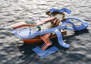 bateau aqua 3d model