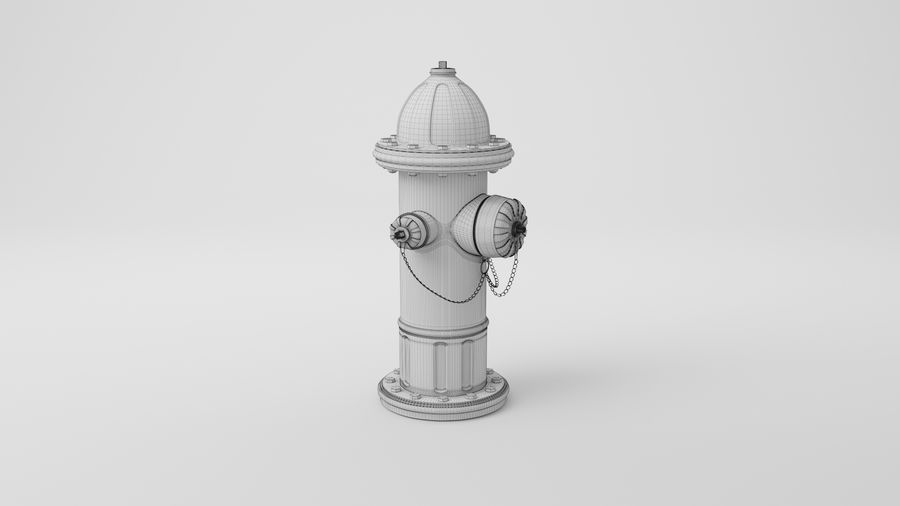 Пожарный кран royalty-free 3d model - Preview no. 23