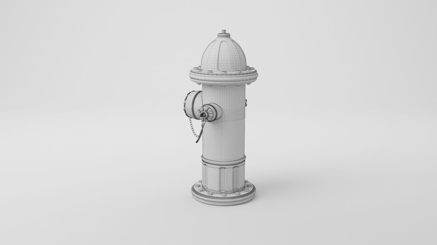 Пожарный кран royalty-free 3d model - Preview no. 24
