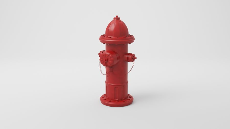 Пожарный кран royalty-free 3d model - Preview no. 14
