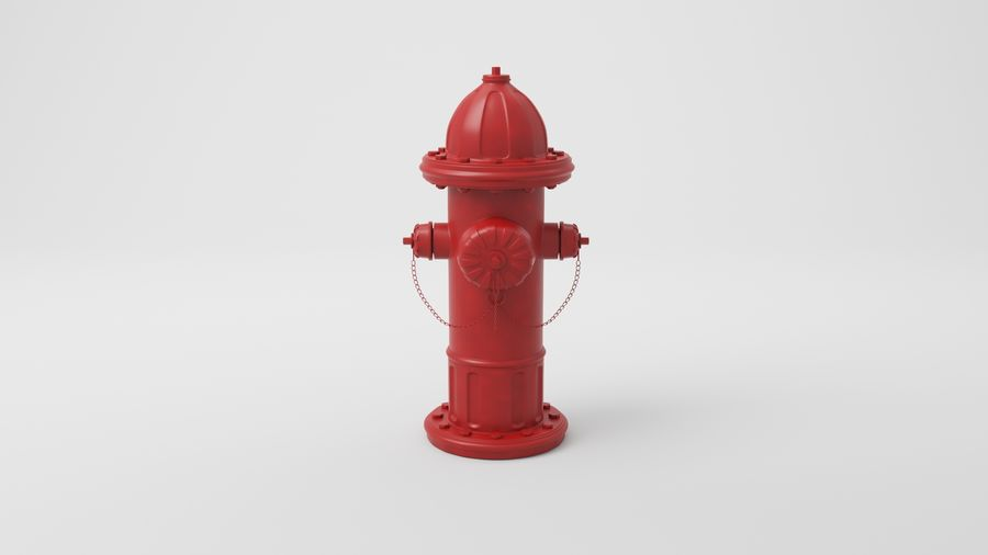 Пожарный кран royalty-free 3d model - Preview no. 5